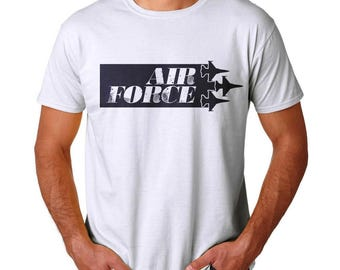 Airforce Men's White T-shirt NEW Size  S-2XL