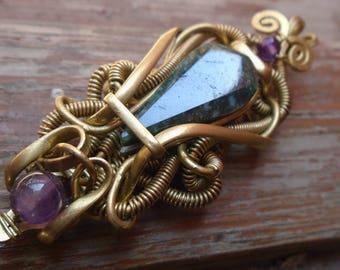brass with jade pendant