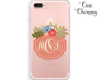 Clear iPhone Case Monogram iPhone 6s Case iPhone 7 Cover iPhone 7 Plus Case iPhone 6 Case iPhone 6 Plus Case iPhone 6s Plus Case iPhone SE
