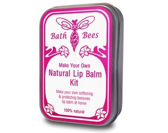 Lip Balm Kit - Make Your Own 100% Natural Beeswax Lip Balm