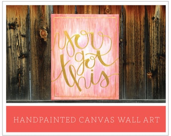 "Handpainted Mixed Ombre Canvas Wall Art - ""Customize it"" options"