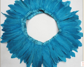 2 Yards Multi-Colors Goose Feather Trims Goose Pallets Feathers Goose Feathers Sewn On Tapes Fast shipped from GA USA