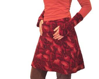 SET skirt and legwarmers Musterwalk Red