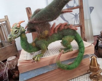 Needle felted Dragon Dragon statue