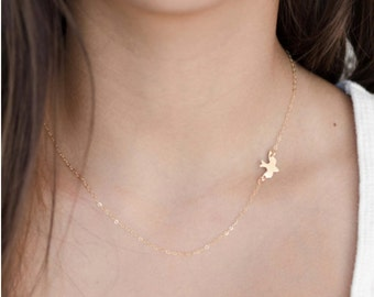 Bird Necklace | Layering Necklace | Delicate Bird Necklace | Dainty Bird Necklace | Layering Necklace | Delicate Necklace | Sparrow Necklace