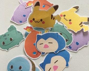 Pokemon tsum tsum style stickers
