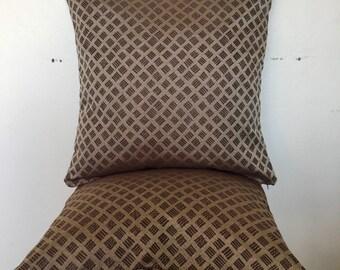 Retro Fabric Throw Pillow Silvery Brown 18x18inch 50x50cm Throw Pillow Cushion Cover