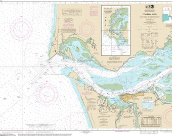 Noaa Chart of Columbia River 18521