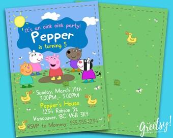 Peppa Pig Invitation, Peppa Pig Birthday, Peppa Pig Party, Peppa Pig Invites, Peppa Pig Printables, Peppa Pig Invite, Peppa Pig Printables