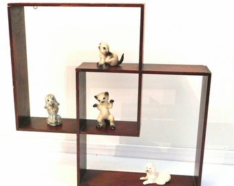 Vintage Shadow Display Boxes for the wall from 1950s