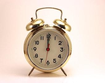 Retro Gold Alarm Clock