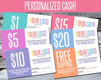 Business Cards! Personalized CASH - LLC04