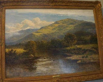 Sold Antique 1800s Listed Artist Daniel Sherrin Landscape Oil Painting  Original Gild Frame,Great Auction Records,Christies, Artnet Etc
