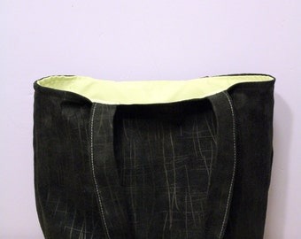 Handbag small tote Black Suede effect