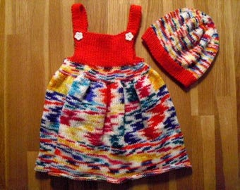 Baby dress, dress with hat