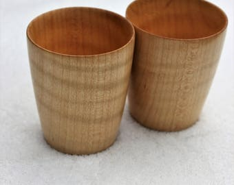 Curly Maple Shot Cup Set (Includes 2 cups)