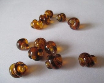 Vintage Japanese Tortise Glass Snail Beads
