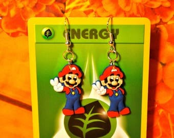 Mario 64 inspired Mario Earrings, Mario Earrings, Super Mario Earrings