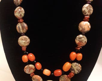 Lovely orange colored Jasper necklace