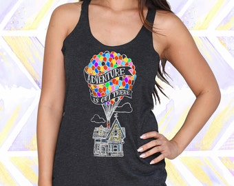 Up Adventure is Out There Disney Tank Top / Disney Tank Top / Disneyland Trip / Disneyland Shirts [E0108,E0214]