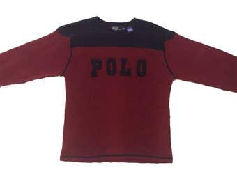 Vintage Ralph Lauren Polo Spellout Sweater