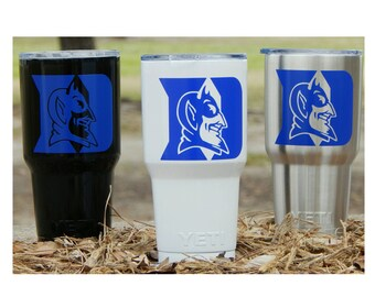 YETI - Authentic - Duke University Blue Devils Yeti Cup Mug 30 oz 20 oz Rambler Tumbler Duke Blue Devils Fan student gift custom 30oz 20oz