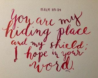 Watercolor Psalm