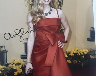 Amanda Seyfried signed 8x10 red dress