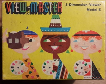 Vintage Viewmaster Viewer 3-Dimension Model E Retro 50-IES In original box