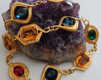 Royal NAPIER Byzantium Limited Edition Necklace - Large Jewel Tone Stones