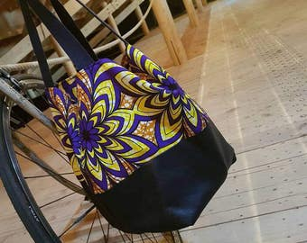 Bag Tote yaye in leather and wax