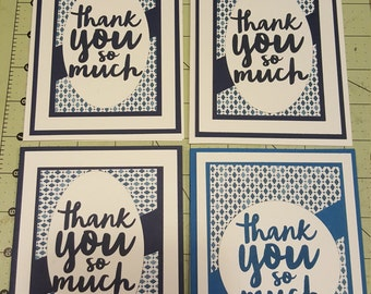 Set of 4 'Thank you' cards