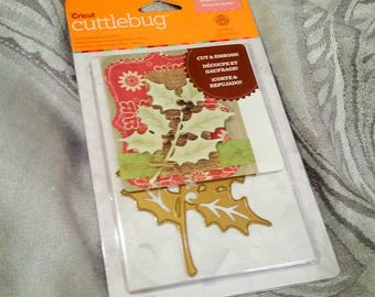 Cricut Cuttlebug Cut and Emboss ~Holly Sprigs~ Die Set by Anna Griffin