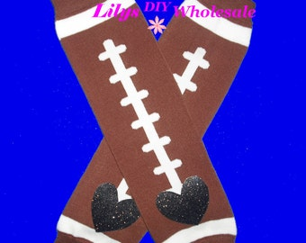 Leg Warmers, Customized, Baby Legwarmers, Toddler Legwarmers, Football, Brown Legwarmers, Legwarmers, Child Leg Warmers, Football Laces