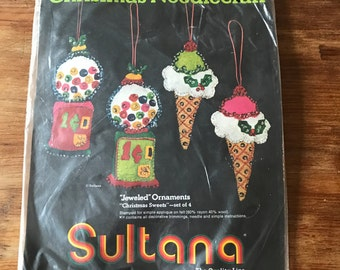 "1960s ornament kit (""Christmas Sweets"" by Sultana- set of 4)"