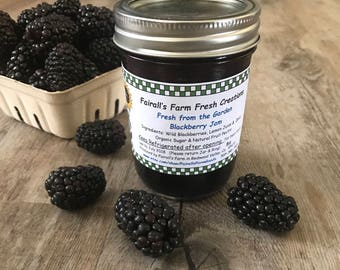 Blackberry Jam - Fairall's Farm - Food Gift - Best Valentines Gift - Jam preserves - Valentines Day Food Gift - Gifts Under 10 - Small Batch