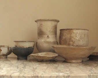 group of early Chinese ceramics