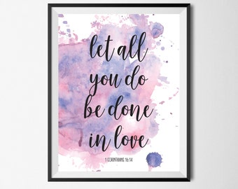 Watercolor Watercolor Print Watercolor Art Inspirational Quote Quote Prints Framed Quotes Wall Art Wall Decor Digital Download Home Decor