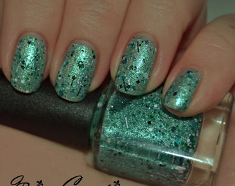 Frenchmen St Funk - Green Multicolored Glitter Nail Polish LIMITED EDITION