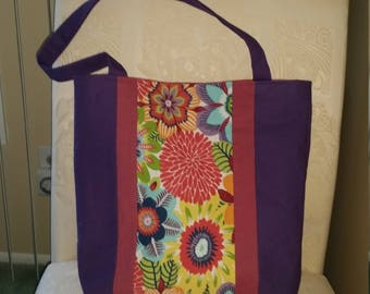 Tropical Floral Tote