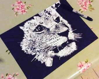 Lion cub pen drawing