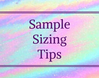 READY-TO-WEAR   Sample Sizing Tips