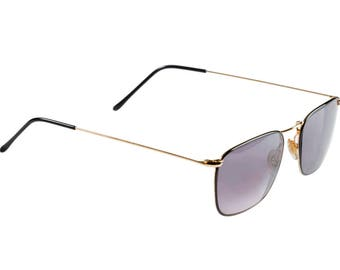 Tullio Abbate vintage aviator sunglasses, made in Italy in the 80s. Genuine designer sunglasses for men and women, NOS