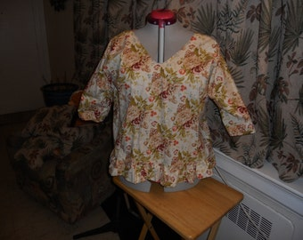Ruffled Flowered shirt