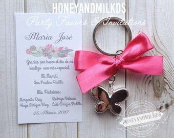 FIRST COMMUNION KEYCHAIN party favors / keyrings of first communion memories