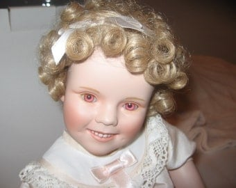 "Shirley Temple Porcelain Doll ""Little Miss Shirley"" from Toddler Doll Collection"