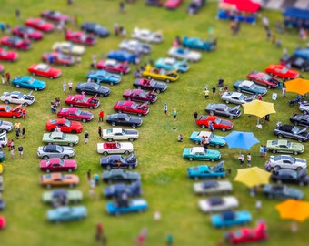 Colorful Antique/Classic/Vintage Car Show - Photography Print
