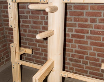 Wing Chun - wooden dummy, wooden dummy, height-adjustable frame
