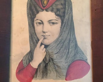 Can You Keep A Secret? 1872 Currier & Ives Lithograph