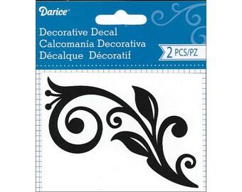 Darice WS1010, Black Vinyl Decorative Decal, pkg. of 2 pc.
